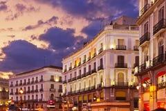 Madrid Espagne au coucher du soleil images libres de droits