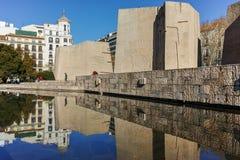 MADRID, ESPAGNE - 21 JANVIER 2018 : Monument à Jorge Juan et Santacilia chez Plaza de Colon dans la ville de Madrid Image libre de droits