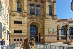 MADRID, ESPAGNE - 21 JANVIER 2018 : Musée National des sciences naturelles à la rue de Paseo de la Castellana dans la ville de Ma photo stock