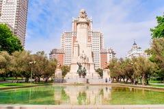 MADRID ESPAGNE - 23 JUIN 2015 : Place de l'Espagne photo libre de droits