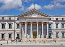 Madrid Espagne - le congrès des députés, Congreso de los Diputados images stock