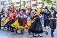 MADRID, ESPAGNE, le 21 octobre 2018 Major Street XXV festival de t photos stock