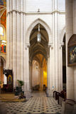 MADRID, ESPAGNE - 28 MAI 2014 : Organe, cathédrale de Santa Maria la Real de La Almudena, Madrid, Espagne images stock