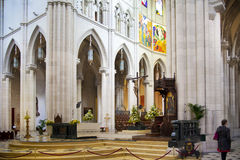 MADRID, ESPAGNE - 28 MAI 2014 : Organe, cathédrale de Santa Maria la Real de La Almudena, Madrid, Espagne photos libres de droits