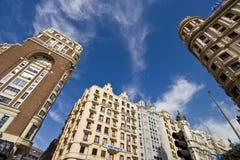 Madrid, Espagne 14 mars 2009 Beau jour à Madrid constructions Images libres de droits