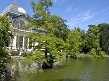 madrid för lake för el-facade glass retiro spain Royaltyfri Bild