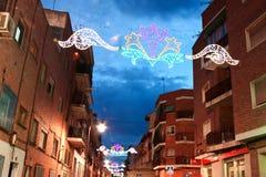 MADRID FÖRORT AV SAN SEBASTIAN DE LOS REYES - SEPTEMBER 29: Illu Royaltyfri Foto