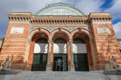 Madrid - Facade of Palacio de Velasquez in Buen Retiro park Royalty Free Stock Photos