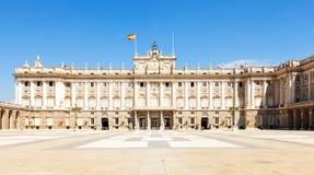 Madrid. Facade of Royal Palace Royalty Free Stock Photos