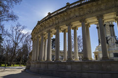 Madrid famous Retiro Park in the early morning.Monument to Alons Stock Image