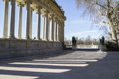 Madrid famous Retiro Park in the early morning.Monument to Alons Stock Photo