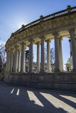 Madrid famous Retiro Park in the early morning.Monument to Alons Stock Photos