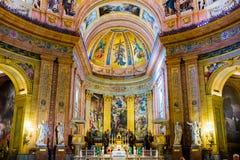 Madrid - Fesco de Basilica de San Francisco el Grande Images stock