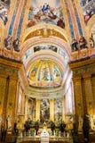 Madrid - Fesco de la cúpula grande en el EL del de San Francisco de la basílica grande Imágenes de archivo libres de regalías