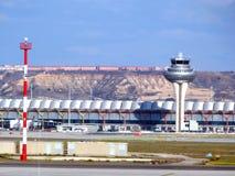 Madrid flygplats Arkivbild
