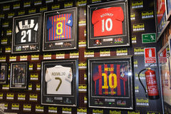 Madrid football mania shopping Stock Photography