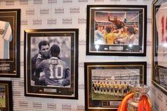 Madrid football mania shopping Stock Photo
