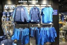 Madrid football mania shopping Royalty Free Stock Photo