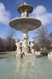 Madrid - fountain in Retiro park Stock Photos
