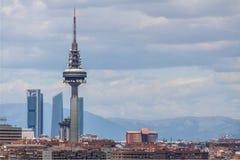 Madrid från en parkera Arkivbilder