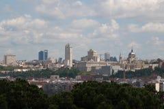 Madrid genommen vom Kirchhof Sans Isidro, an einem vollen Tag lizenzfreie stockbilder