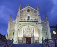Madrid - gothic church San Jeronimo el Real in evening Royalty Free Stock Images