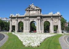 Madrid gränsmärke arkivbild