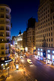 Madrid gran via Royalty-vrije Stock Afbeelding