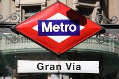 Madrid gran via stock fotografie