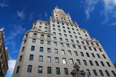 Madrid, Gran Via, Spain. The city street Gran Via, of Madrid, Spain Stock Image