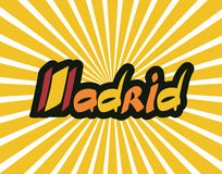 Madrid hand lettering text Stock Photography