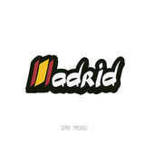 Madrid hand lettering text Stock Photo