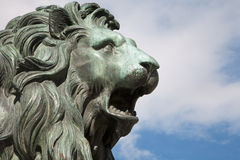 Madrid - Head of lion from Philip IV of Spain memorial for the Opera Royalty Free Stock Image