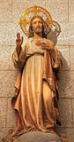 Madrid - Heart of Jesus statue from church of hl. Theresia Stock Photography