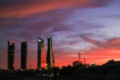 MADRID HIMMELMIDDAG fotografering för bildbyråer