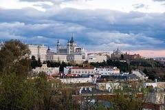 Madrid horisont Arkivbilder
