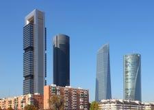 Madrid horisont Arkivbild