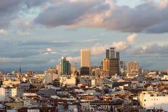 Madrid horisont Royaltyfri Bild