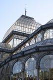 Madrid, il palazzo di cristallo Fotografia Stock