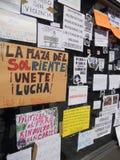 Madrid, indignados besetzen Solenoid-Quadrat Stockfotografie