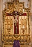 Madrid - Jesus på korset. Sidoaltare från San Jeronimo el Real Royaltyfri Bild