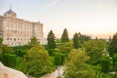 Madrid-königlicher Palast Lizenzfreies Stockbild