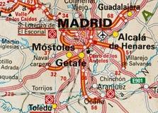 Madrid-Karte Lizenzfreie Stockfotografie