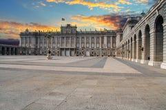 Madrid kunglig slott, Spanien Arkivfoto