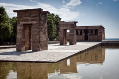Madrid, le temple de Debod Photographie stock