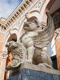 Madrid - Lions for entry of Palacio de Velasquez Stock Photo