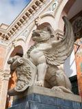 Madrid - Lions for entry of Palacio de Velasquez Stock Photo