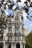 Madrid - Luxury facade in Plaza de Espana Royalty Free Stock Photos