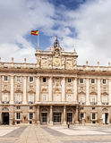 Madrid. Main facade of Royal Palace Royalty Free Stock Photo