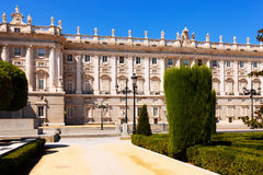 Madrid. Main facade of Royal Palace Stock Photography